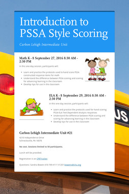 Introduction to PSSA Style Scoring