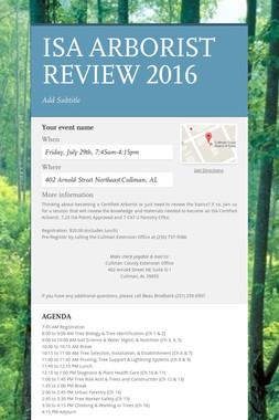 ISA ARBORIST REVIEW 2016