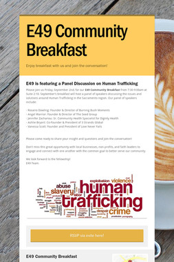 E49 Community Breakfast