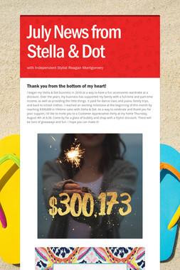July News from Stella & Dot