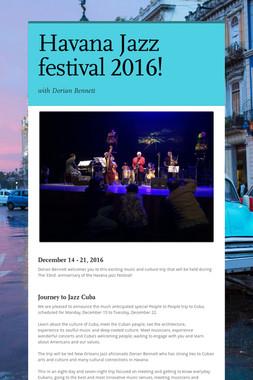 Havana Jazz festival 2016!