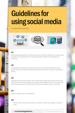 Guidelines for using social media
