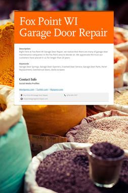 Fox Point WI Garage Door Repair