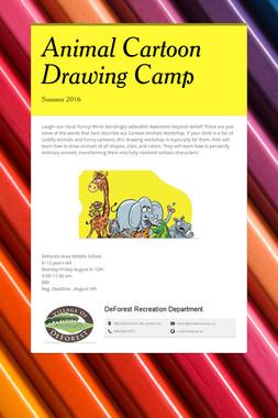 Animal Cartoon Drawing Camp
