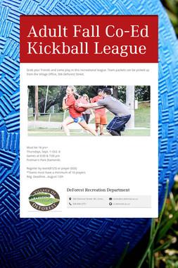 Adult Fall Co-Ed Kickball League