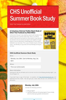 CHS Unofficial Summer Book Study
