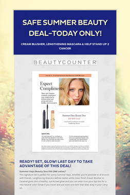 Safe Summer Beauty Deal-Today only!