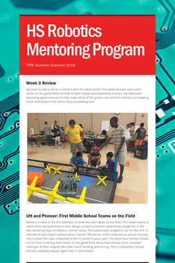 HS Robotics Mentoring Program