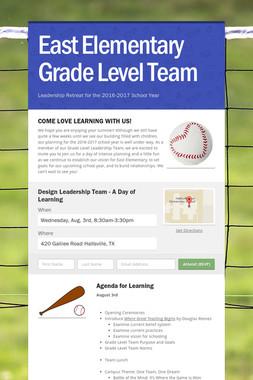 East Elementary Grade Level Team