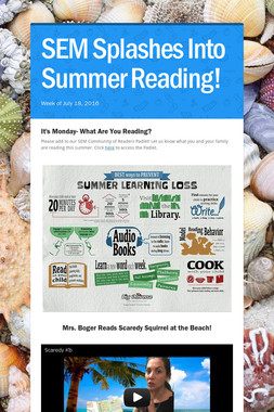 SEM Splashes Into Summer Reading!