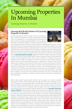 Upcoming Properties In Mumbai