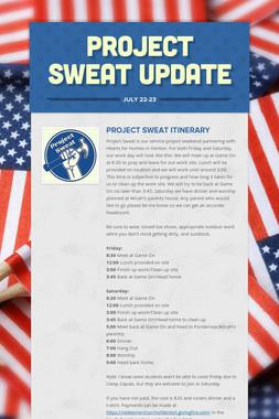 Project Sweat Update