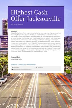 Highest Cash Offer Jacksonville