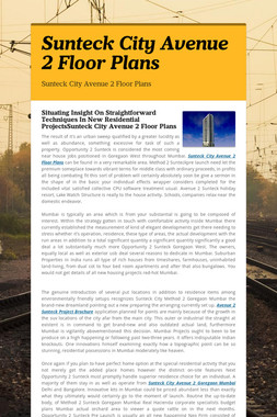 Sunteck City Avenue 2 Floor Plans