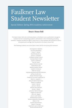 Faulkner Law Student Newsletter