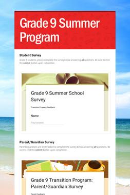Grade 9 Summer Program