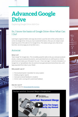 Advanced Google Drive