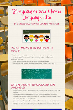 Bilingualism and Home Language Use