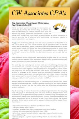 CW Associates CPA's