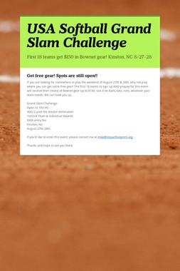 USA Softball Grand Slam Challenge
