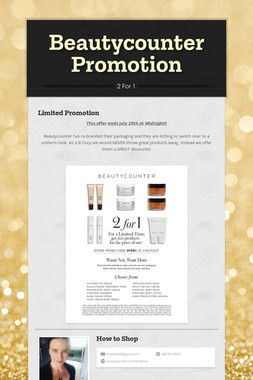 Beautycounter Promotion