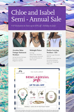 Chloe and Isabel Semi - Annual Sale