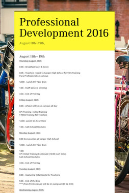 Professional Development 2016