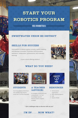 START YOUR ROBOTICS PROGRAM