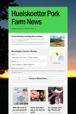 Huelskoetter Pork Farm News