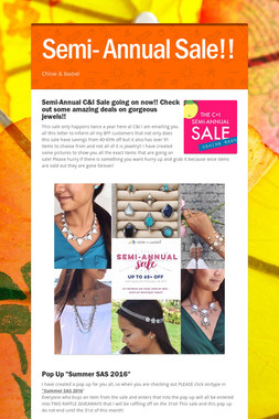 Semi- Annual Sale!!
