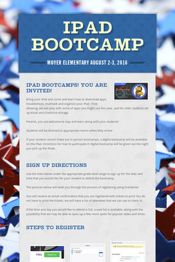 iPad Bootcamp
