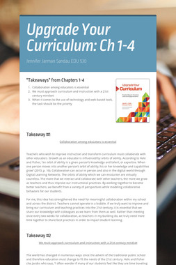 Upgrade Your Curriculum: Ch 1-4