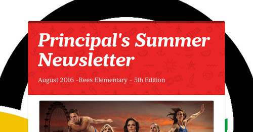 Principal Play Is Non Negotiable For >> Principal S Summer Newsletter Smore Newsletters