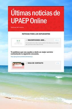 Últimas noticias de UPAEP Online