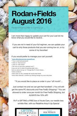 Rodan+Fields August 2016