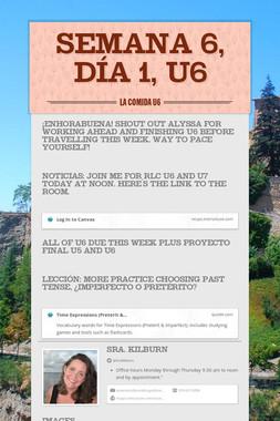 Semana 6, Día 1, U6