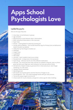 Apps School Psychologists Love