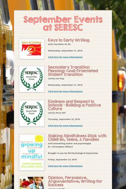 September Events at SERESC