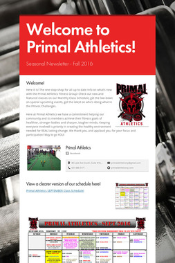 Welcome to Primal Athletics!