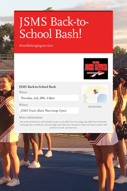 JSMS Back-to-School Bash!