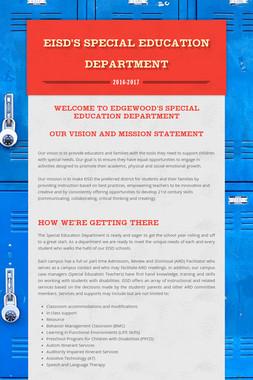 EISD's Special Education Department