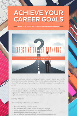 Achieve Your Career Goals