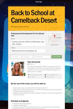 Back to School at Camelback Desert