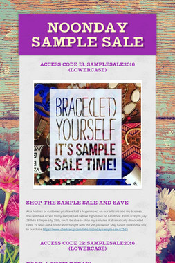 Noonday Sample Sale