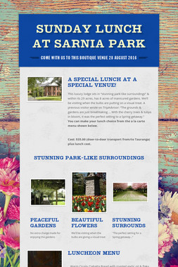 SUNDAY LUNCH AT SARNIA PARK