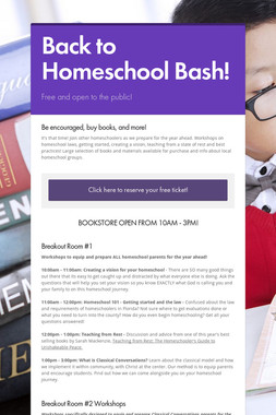 Back to Homeschool Bash!
