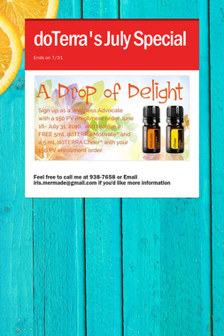 doTerra's July Special