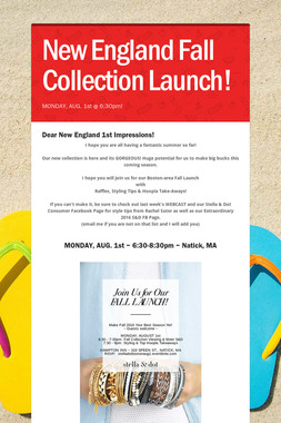 New England Fall Collection Launch!