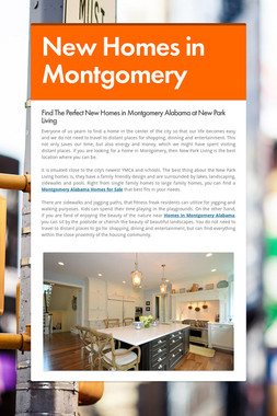 New Homes in Montgomery