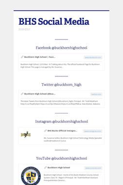BHS Social Media